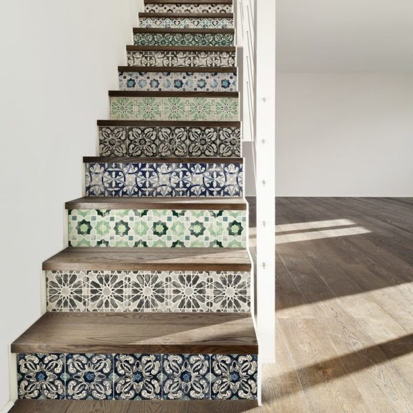 Stair Steps Ideas: Idea To Steal: Removable Tiles