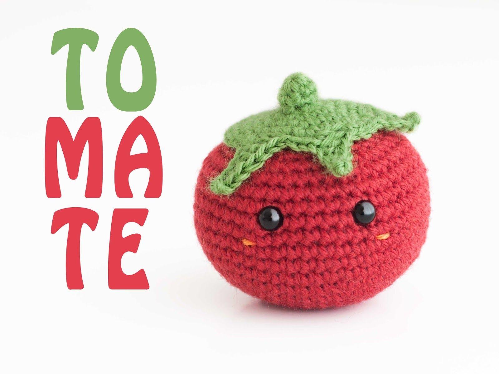 Amigurumi tomate (enlace a patron gratis - free pattern)