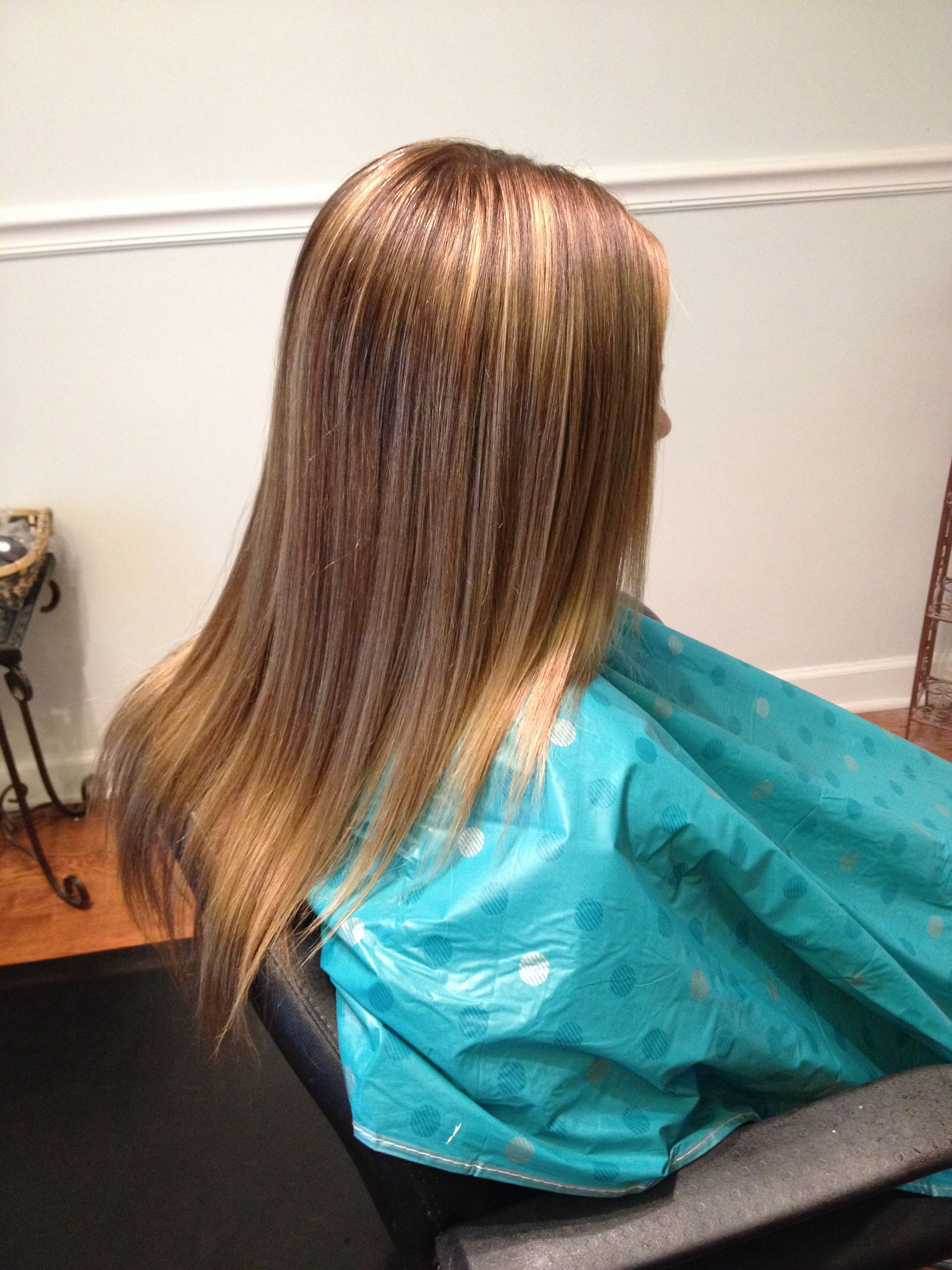 13 Year Old Cheerleaders First Partial Highlight Hair Styles Long Hair Styles Hair