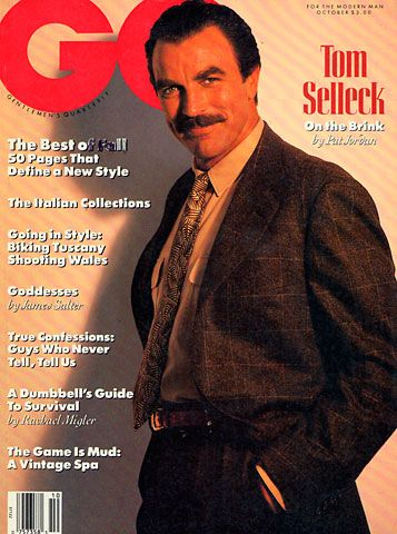 The GQ Cover October 1989: Tom Selleck - On the Brink