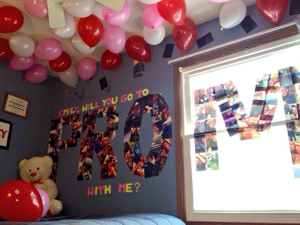 Used photos of them together! Promposal! Prom asking idea