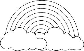 Bulut Boyama Ve Yagmur Damlasi Boyama Sayfasi 4 Boyama Kagidi