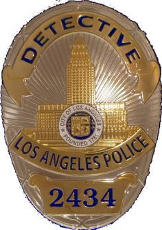 Badge of an LAPD detective with the badge number 2434