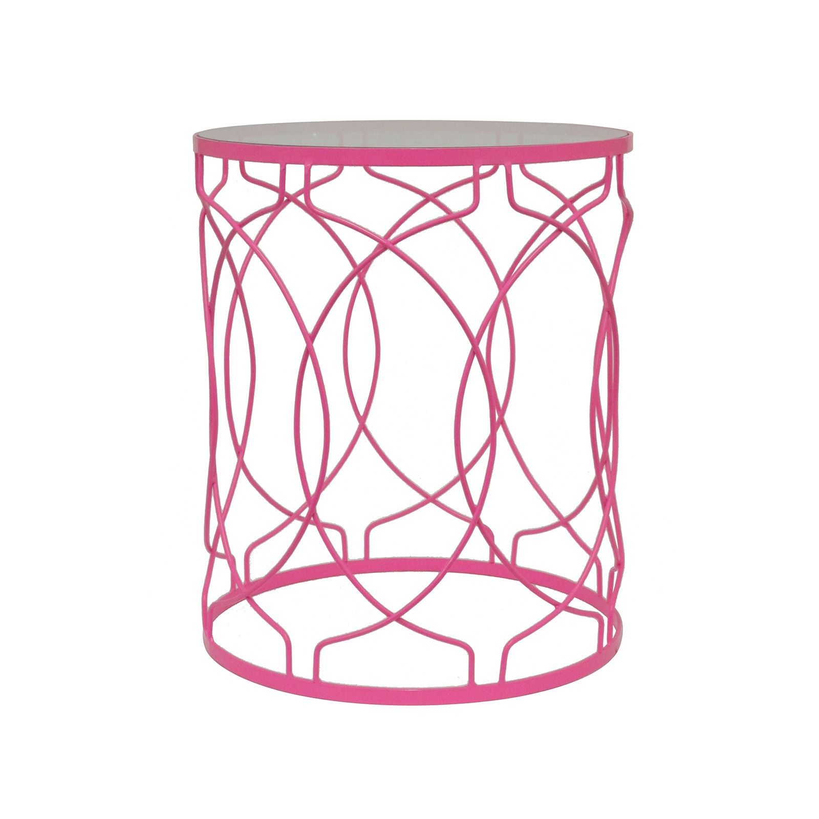Our Pink Metal Accent Table Is A Spirited Addition To Any Room. Featuring A  Vibrant