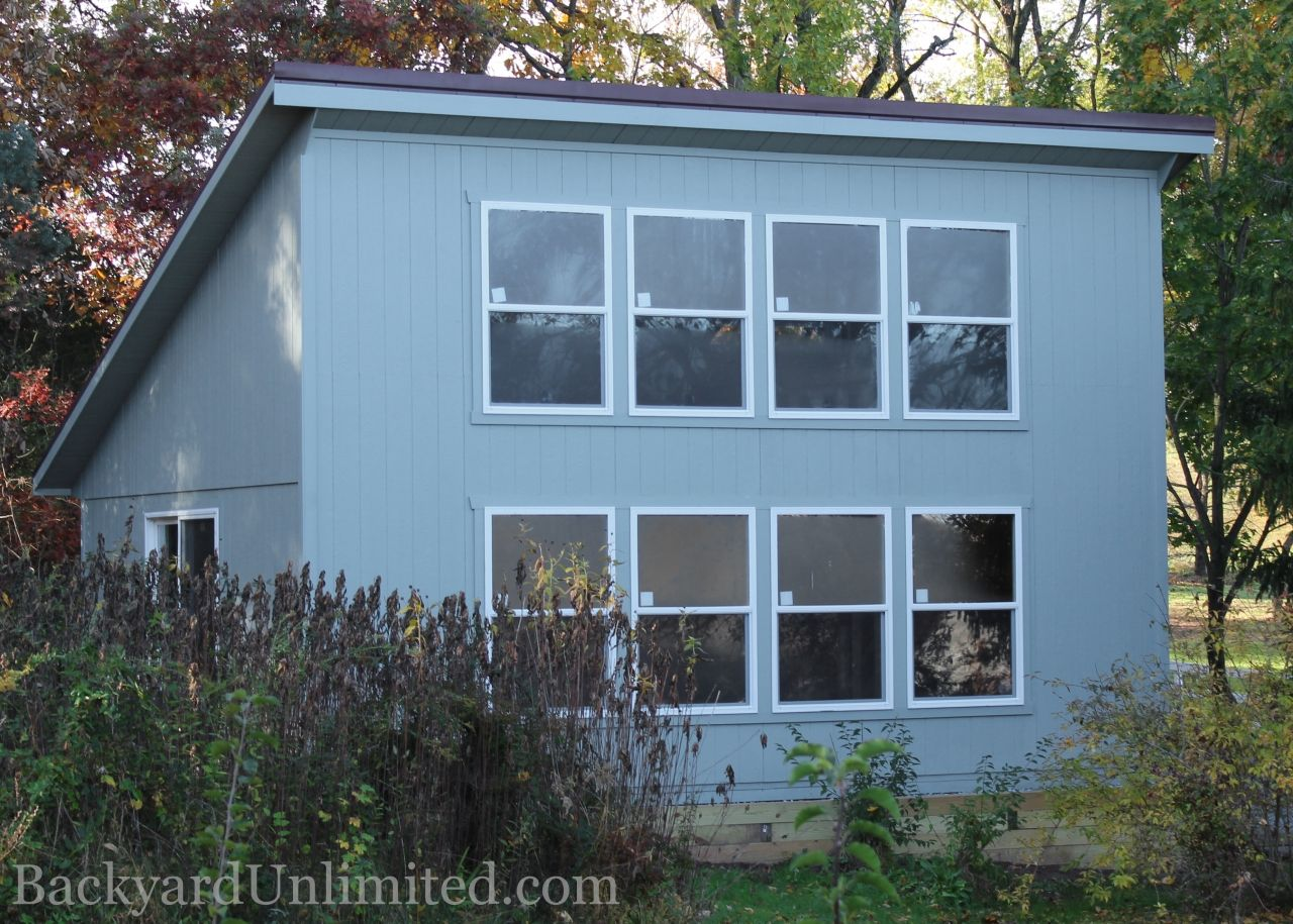 10'x16' Studio with 30x36 insulated windows, prehung 15-lite