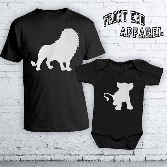147384f6 Lion King Matching Father Son Shirts Disney Vacation Simba Disney Shirts  Matching Dad And Son Shirts