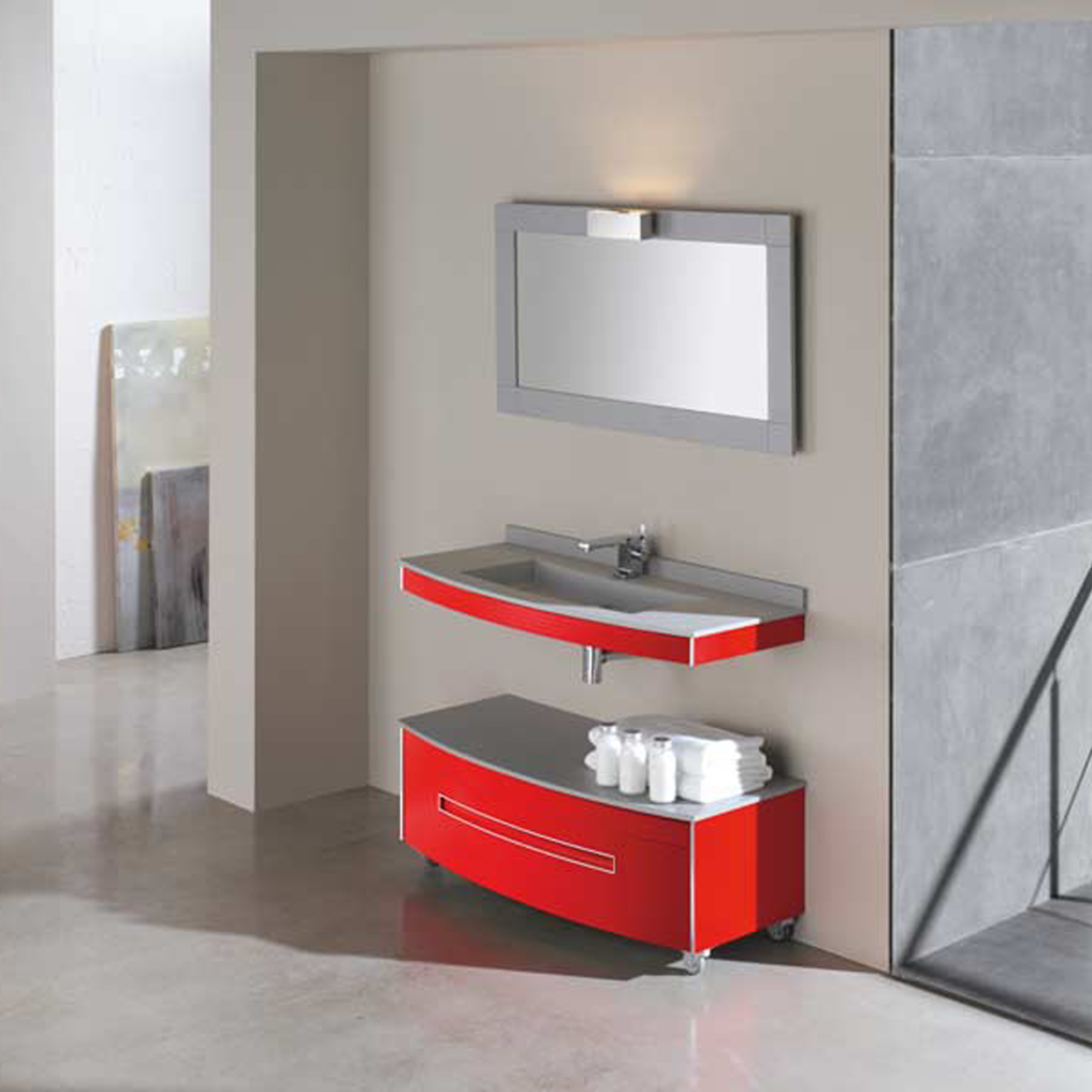 Color of the Month: Decorating with Red | Modern bathroom design ...