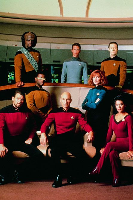 "Star Trek: The Next Generation. By far, one of my favorite shows of all time. Classic. Excellent acting, great characters and story. ""Engage."""