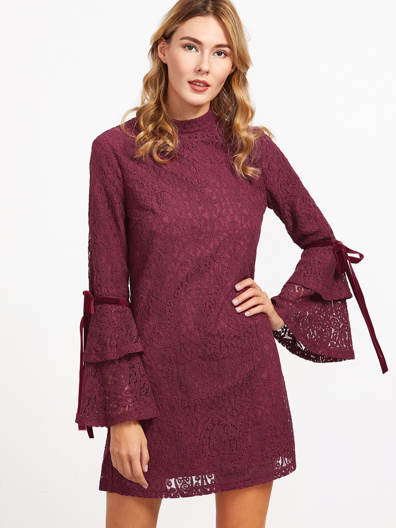 410b3e8a3adaa ... M:69cm, L:70cm Fabric: Fabric has no stretch Season: Fall Type: Tunic  Pattern Type: Plain Sleeve Length: Long Sleeve Color: Burgundy Dresses  Length: ...