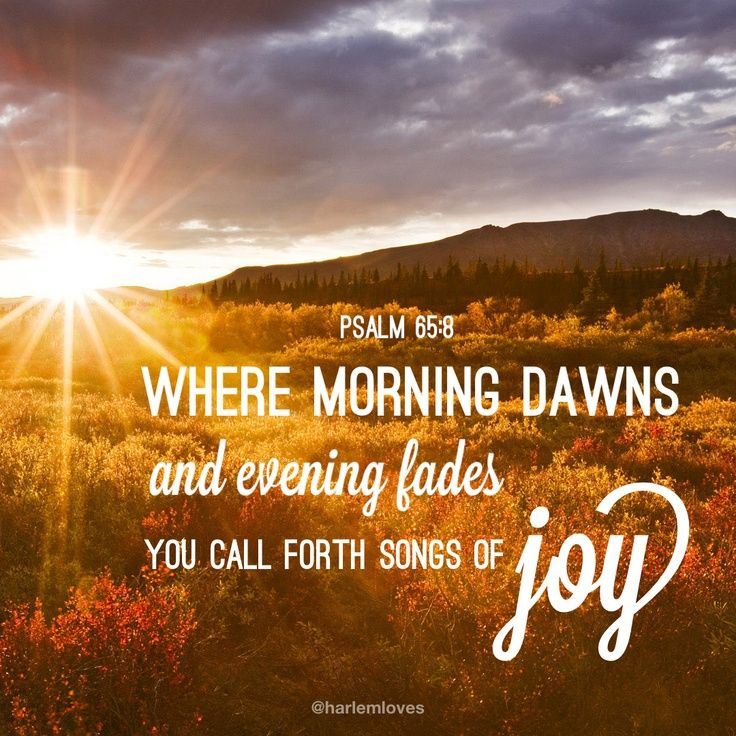 Joy in the evening