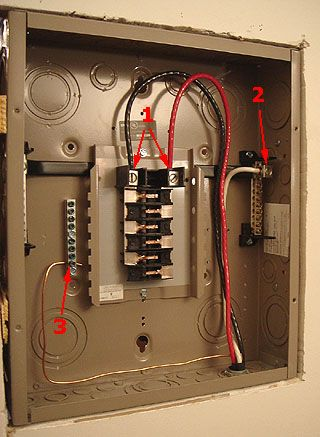 Sub-panel incoming wiring connections, Cutler-Hammer 125 Amp ... on