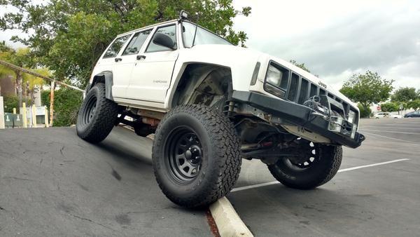84 01 Jeep Cherokee Xj 4 Flare Off Road Fiberglass Fenders