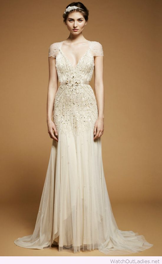 24b0381e6d7 Jenny Packham channels 1920s wedding dress