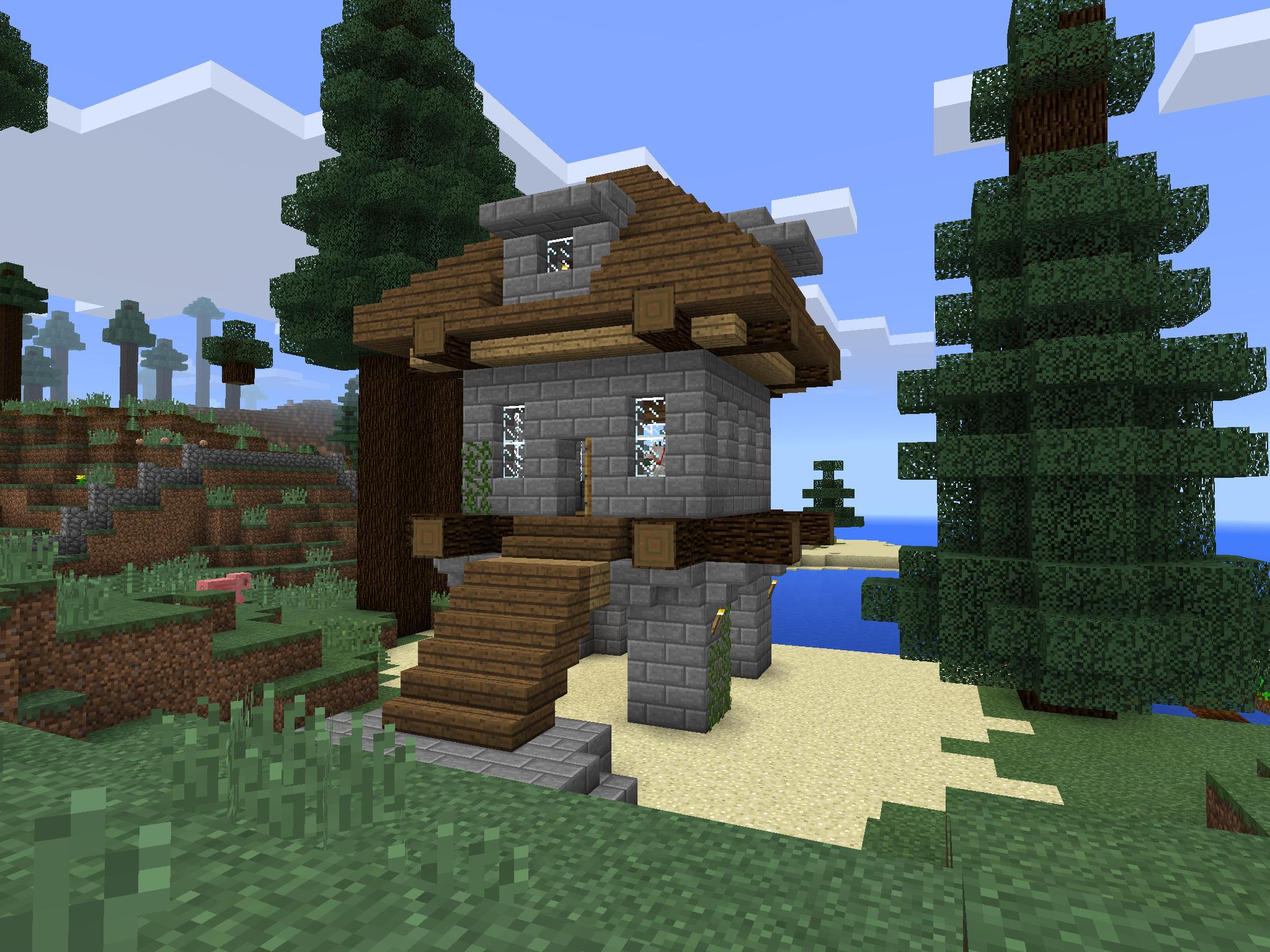 Minecraft PE House - 2 Story Raised   Minecraft house ...