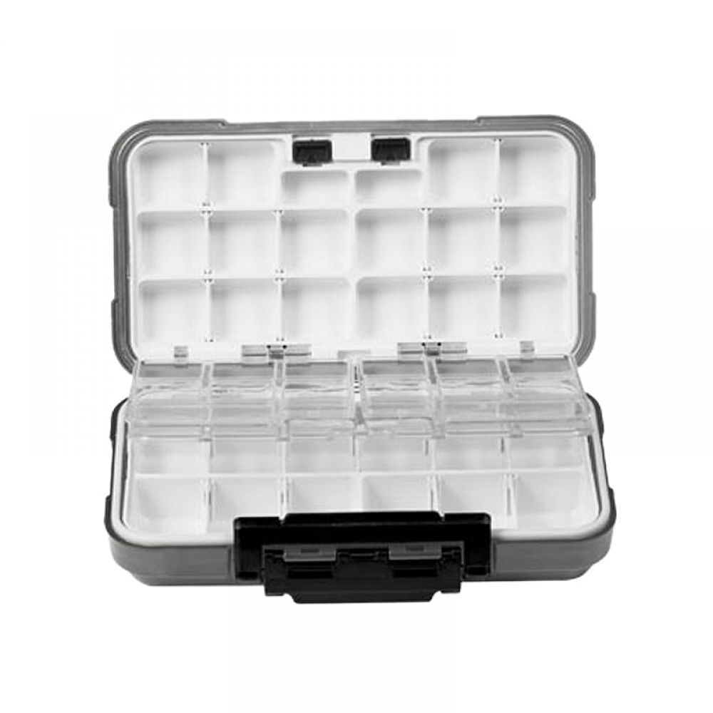 2 Sided Clear Ice//Trout Fishing Jig Box Waterproof Compartments Organizer-Large