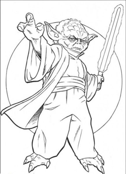 Yoda Star Wars Coloring Pages Free
