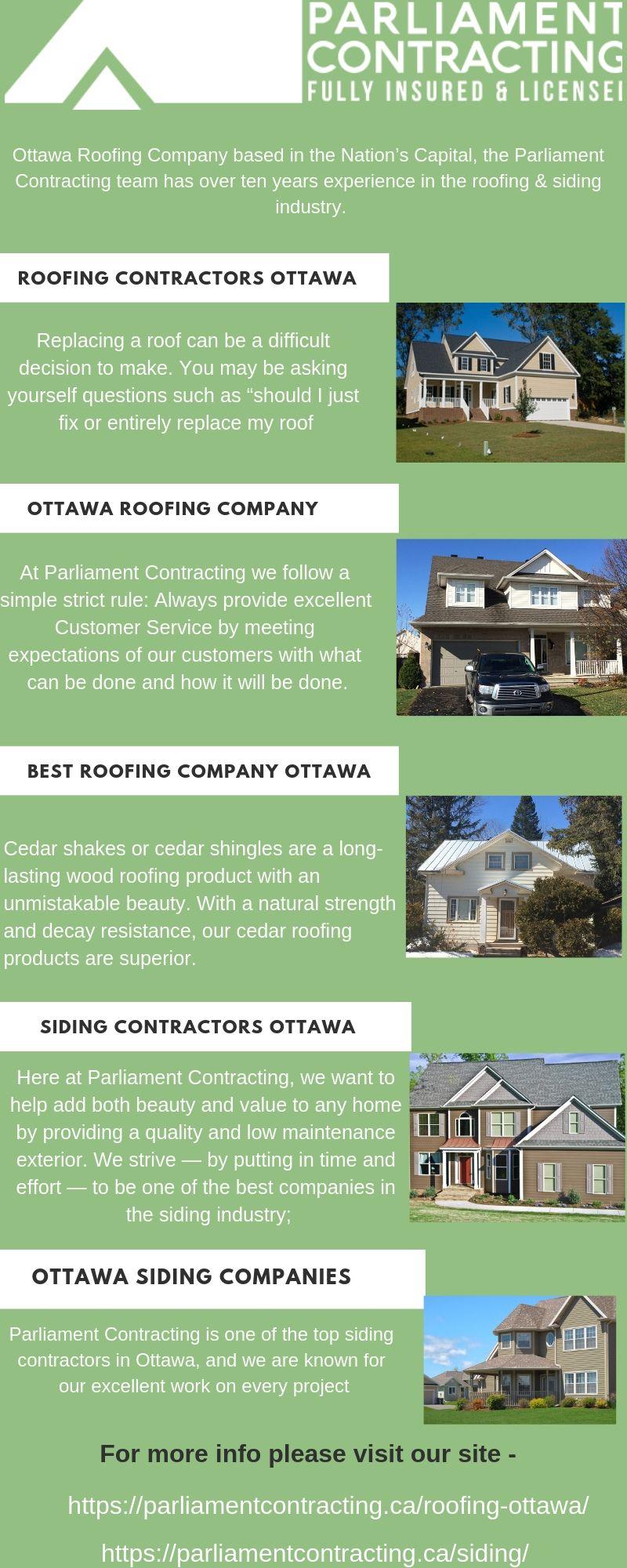 Siding Contractors Ottawa Parliament Contracting Siding Contractors Siding Roofing Contract