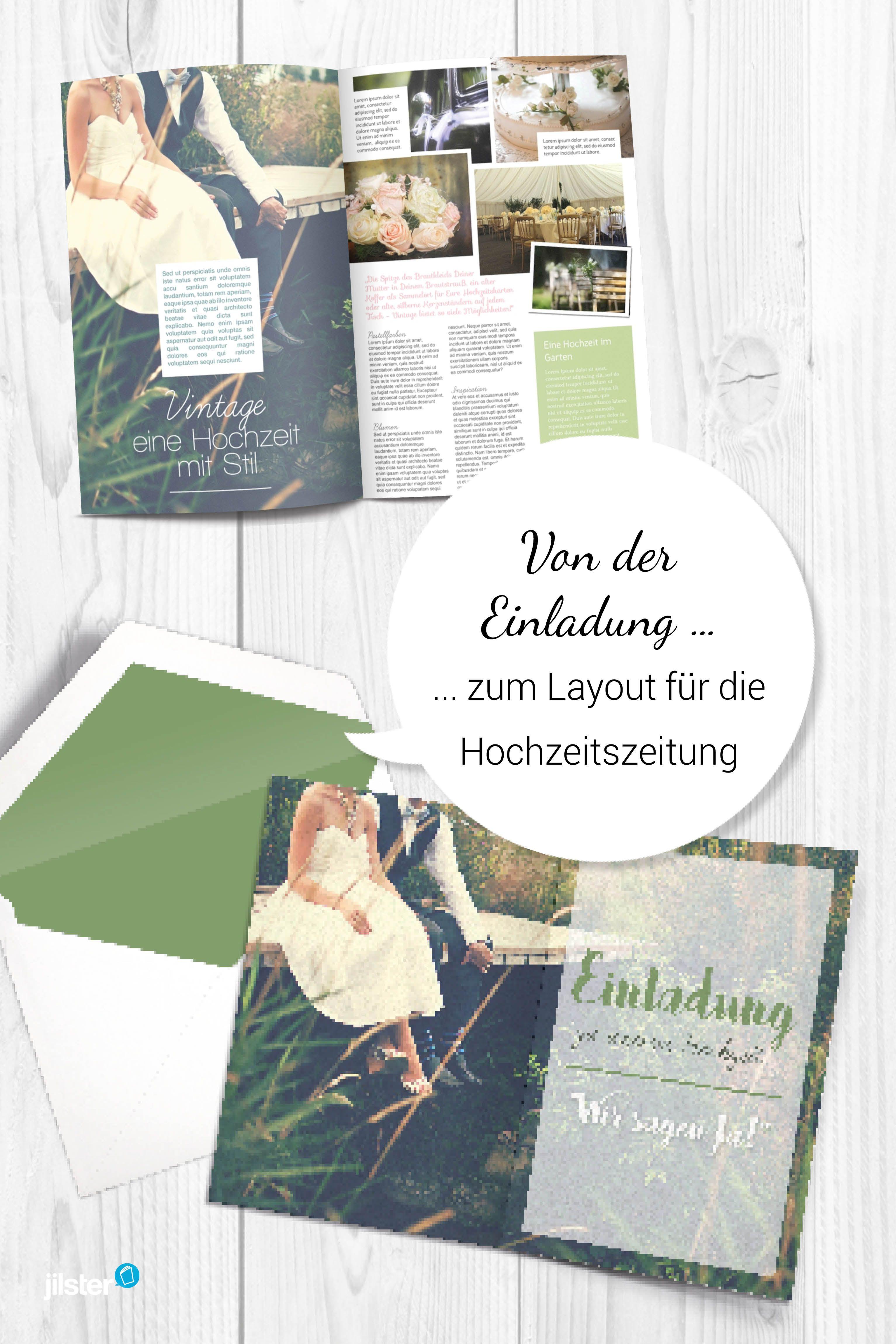 Hochzeitszeitung Hochzeitszeitung Gestalten Vorlagen Tipps