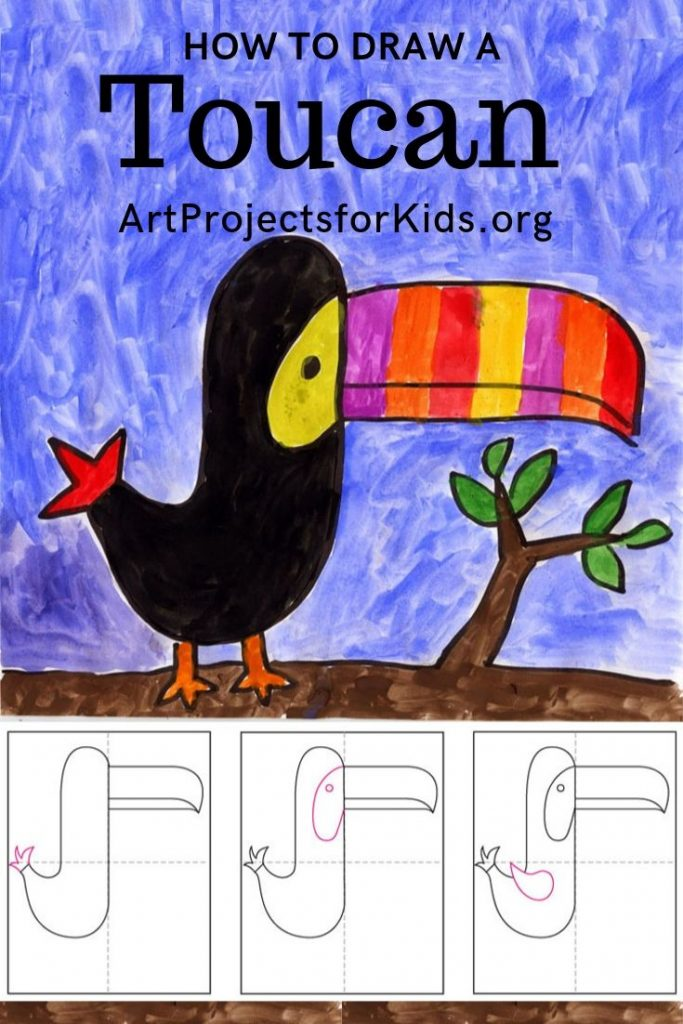 How to draw and paint a Toucan -  Learn how to draw and paint a Toucan with this fun and easy art project for kids. Simple step by step tutorial available. #howtodraw #toucan Best Picture For  easy cooking recipes snacks  For Your Taste You are looking for something, and it is going to tell you exactly what you are looking for, and you didn't find that picture. Here you will find the most beautiful picture that will fascinate you when called  easy cooking recipes budget . When you look at our d