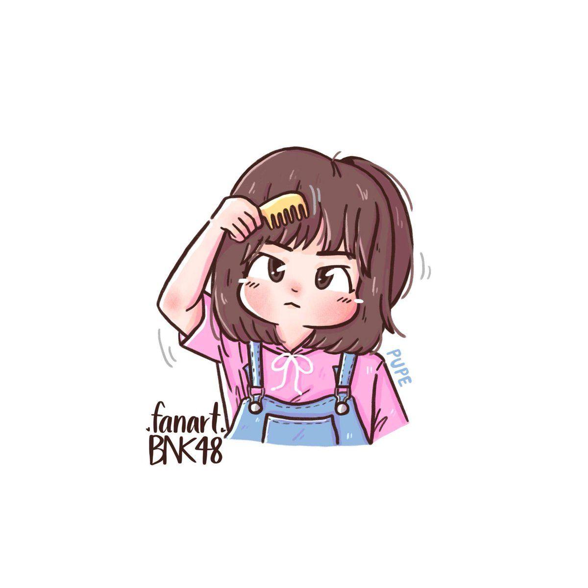 Fanart Bnk48 Fanartbnk48 Twitter Cute Cartoon Wallpapers Cute Easy Drawings Cute Cartoon