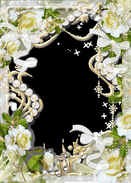 Beautiful Transparent Soft White Wedding Photo Frame with