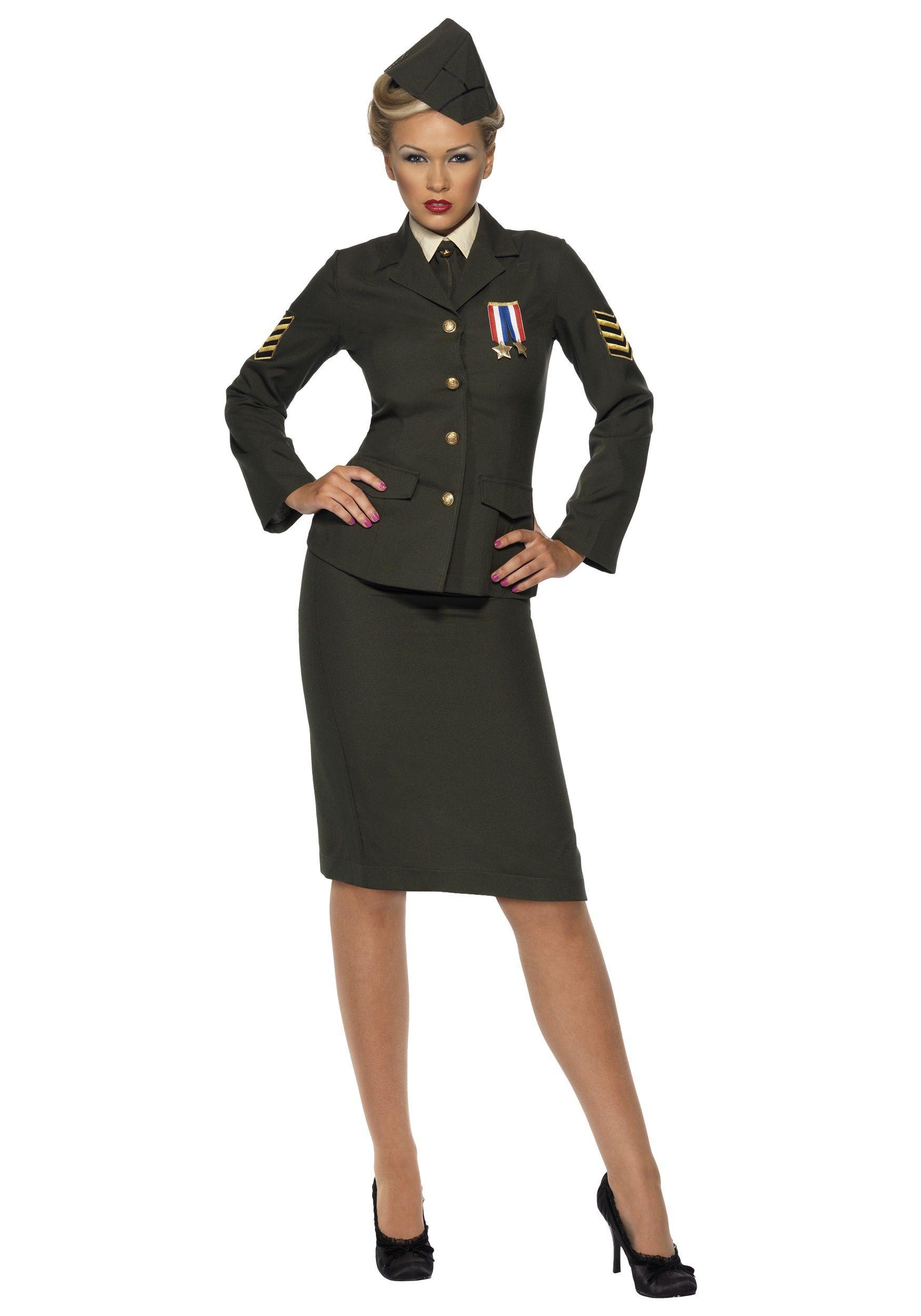 Déguisement Femme Militaire, Officier Militaire, Veste Militaire,  Deguisement Femme, Deguisement Halloween Femme