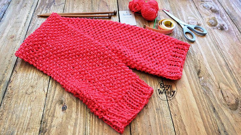 Como tejer un bolero moderno dos agujas tricot calceta-Soy Woolly