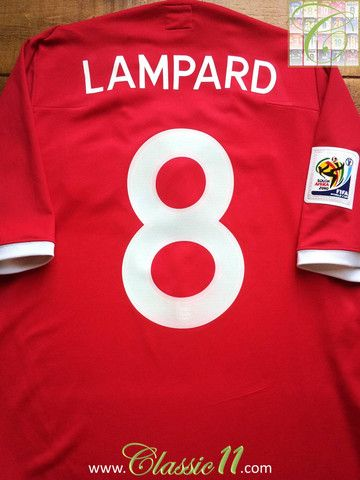 2010 11 England Away World Cup Shirt Lampard 8 L England Football Shirt World Cup Shirts Football Shirts