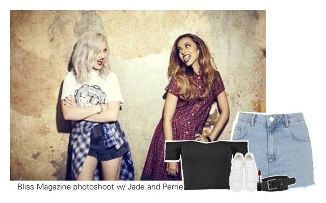 """Bliss Magazine photoshoot w/ Jade and Perrie"" by amberamelia-123 ❤ liked on Polyvore featuring Topshop, FOSSIL, Alexander McQueen and MAC Cosmetics"
