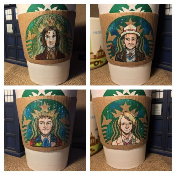 The 12 Doctors as the Starbucks Siren #12doctor