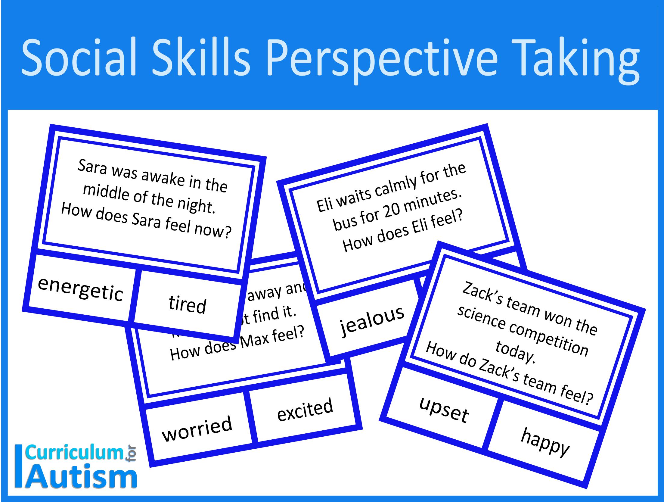 Social Skills Perspective Taking Worksheets Digital