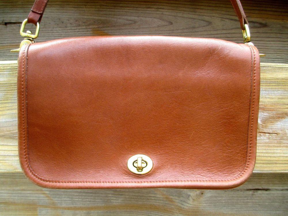 ba43f4e71febfe Vintage COACH British Tan Leather