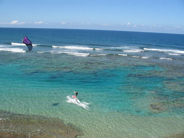Kite Surfing At Shacks Beach Isabela Puerto Rico
