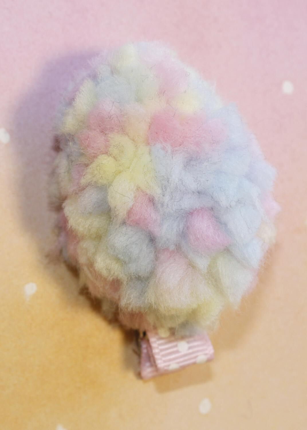 Easter egg hair bow - pom pom hair clip - no slip by ErinsBowrettes on Etsy https://www.etsy.com/listing/503664144/easter-egg-hair-bow-pom-pom-hair-clip-no