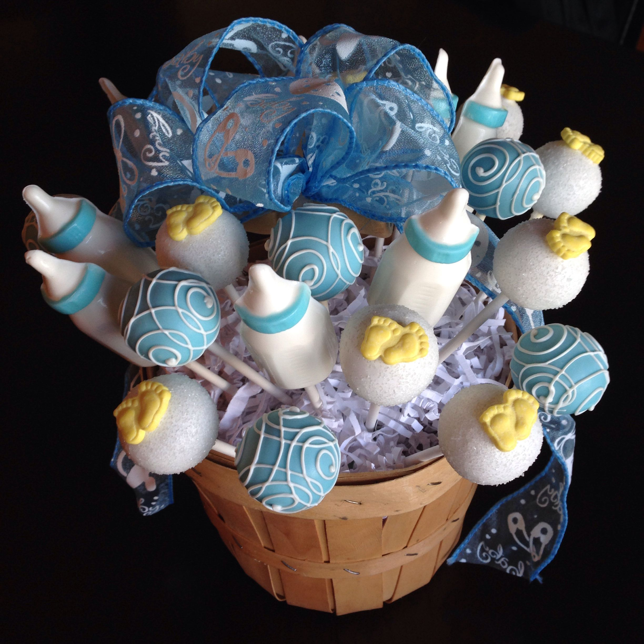 It S A Boy Baby Shower Cake Pops With Images Cake Pops Baby