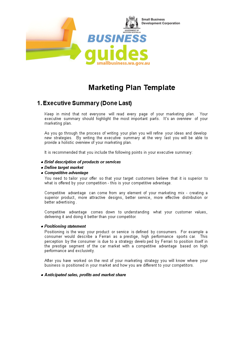 Browse Our Example of Sales Territory Business Plan