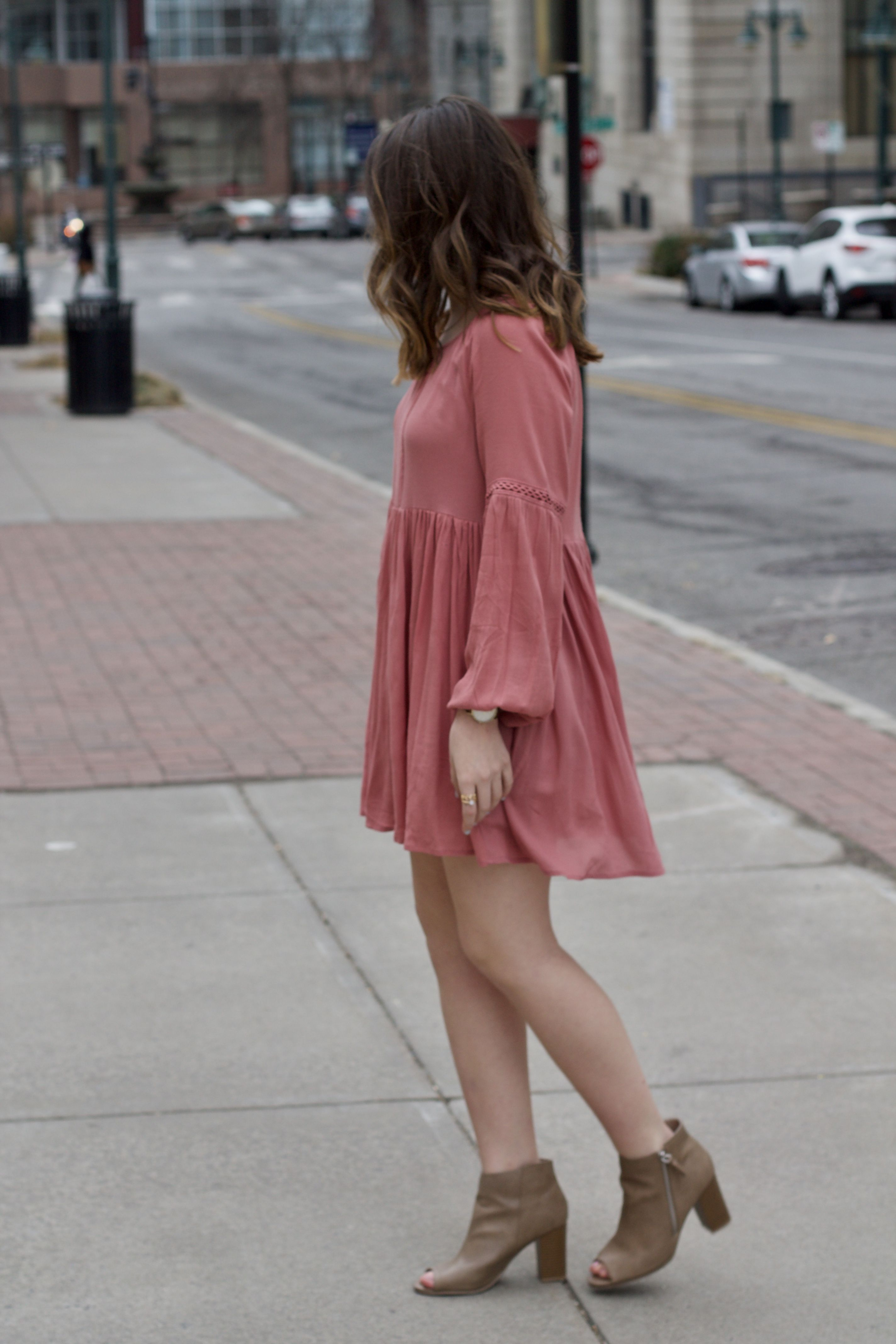 dress with boot heels