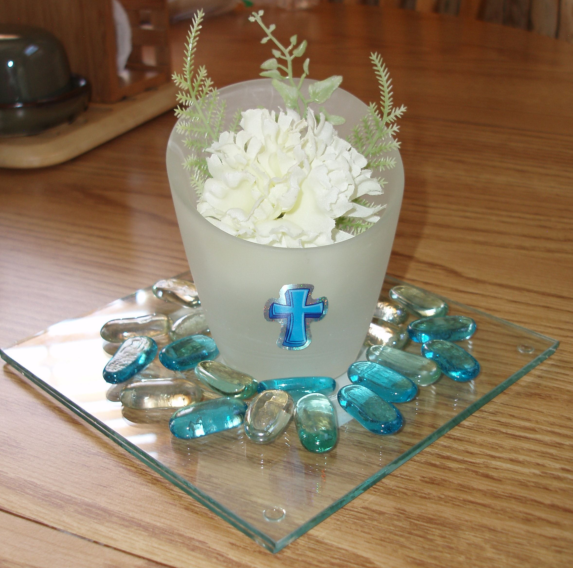 Communion party centerpieces all from dollar tree