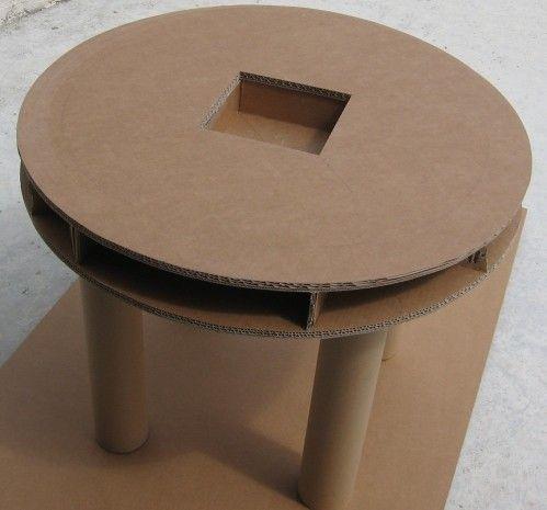 bonjour voici le projet en cours de r alisation une table et une chaise en carton pour la. Black Bedroom Furniture Sets. Home Design Ideas