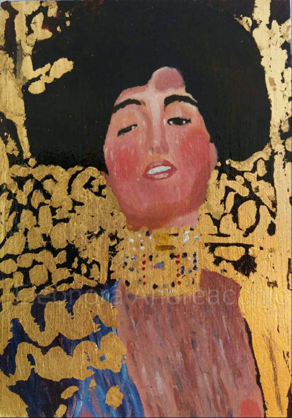 Scatola portagioie con dipinto ispirato a Klimt dipinta a ...