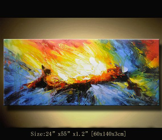 contemporary wall art, Modern Textured Painting, Palette ...