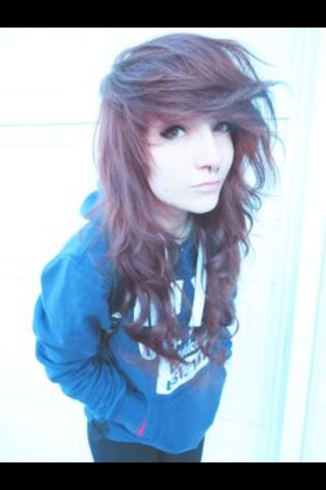 Curly Fringe Emo Hair Dyed Hair Emo Scene Hair