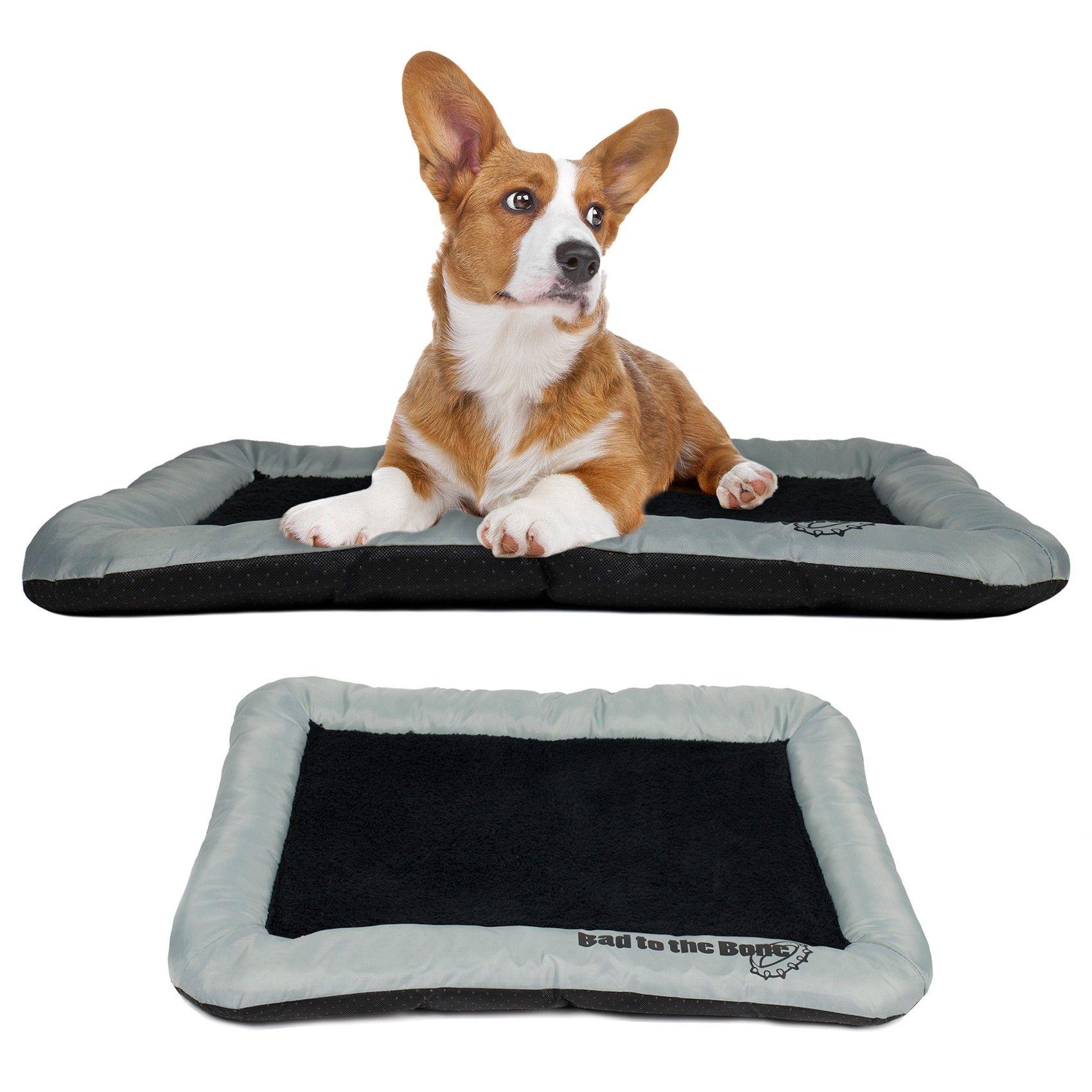 beatrice dog crate pad bolster bed pet mat fleece 36 x 23
