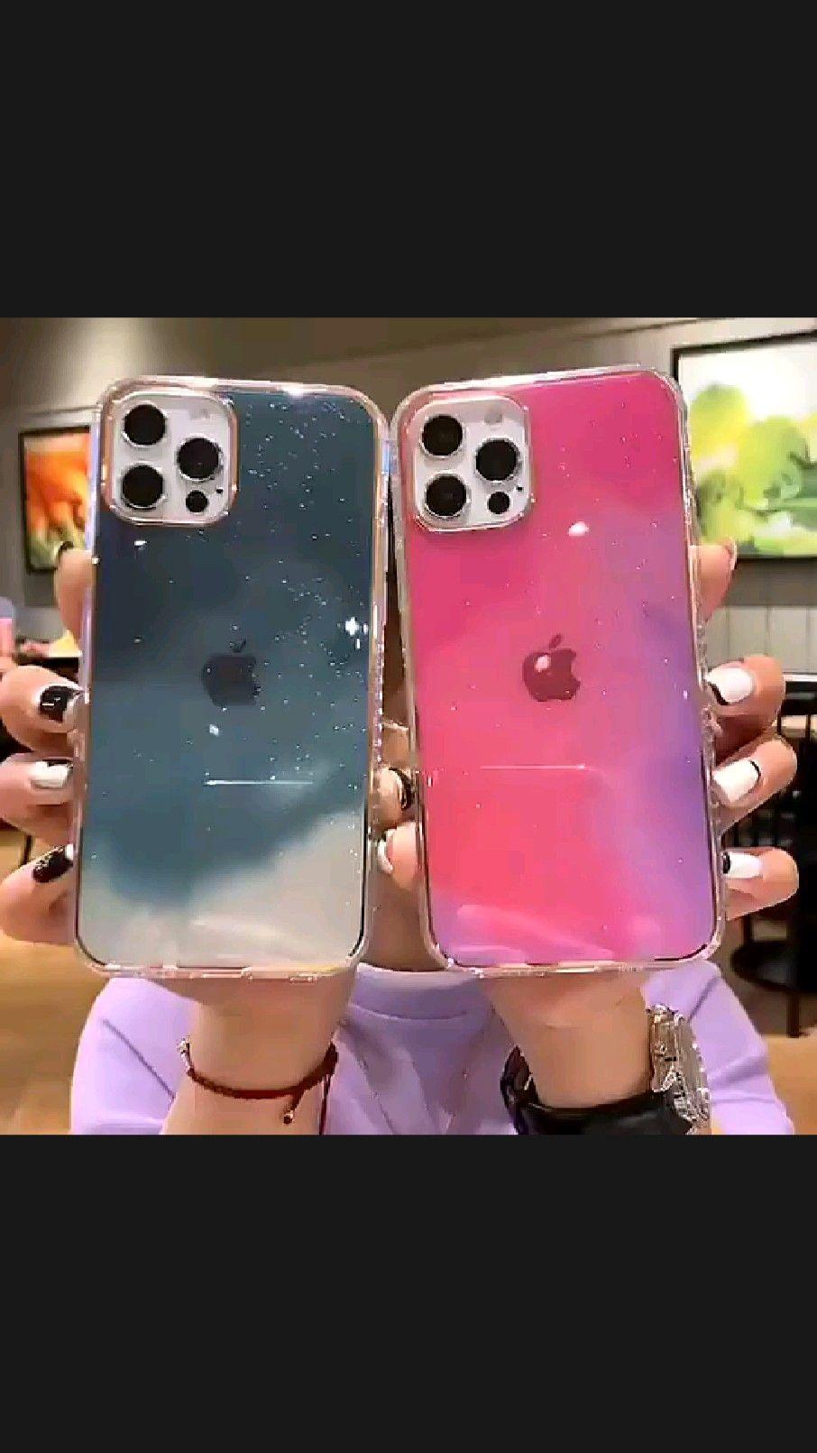 Gradient Glitter Watercolor iPhone Case