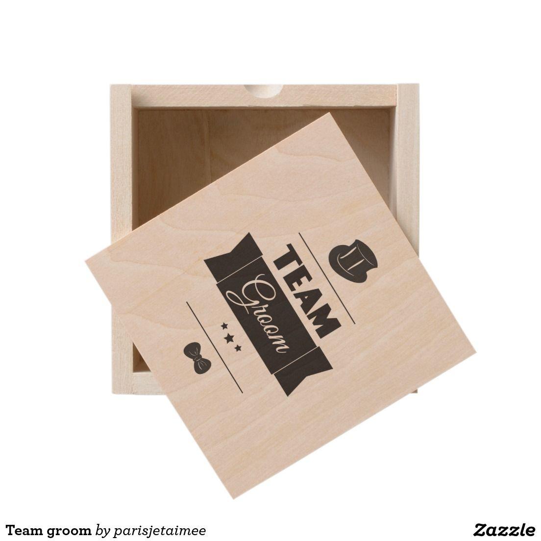 Team groom wooden keepsake box #wedding #groom #teamgroom #groom #funny #cool #bachelorparty #vintage #hipster #bride #engagement #funnygroom #sunglasses #hat #bowtie #groomgift #bachelorgift #weddingparty #bestman #fun