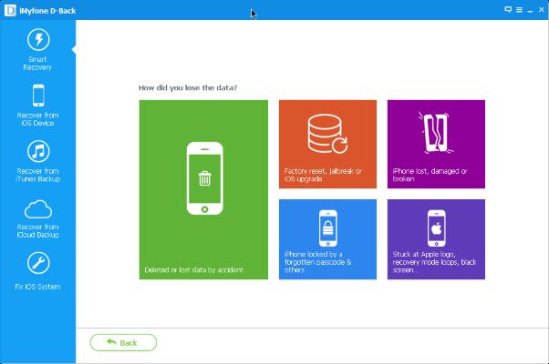 برنامج Imyfone D Back لاسترجاع الملفات المحذوفة للايفون Iphone Information Data Recovery Messages