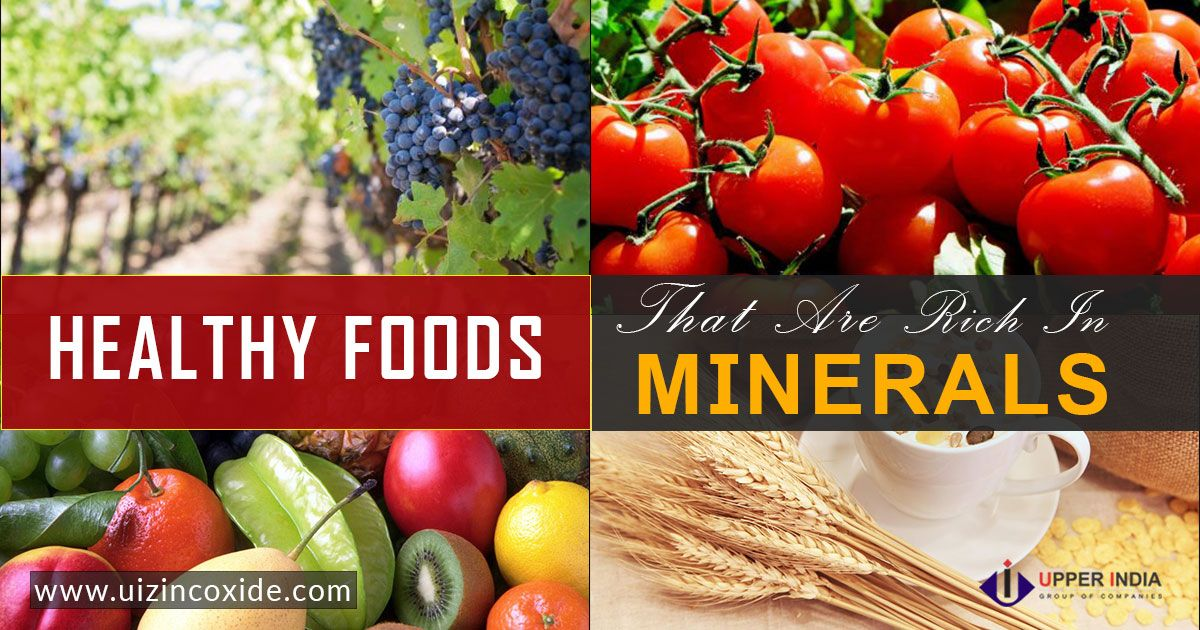 Minerals are the essential part of balanced diet. Like