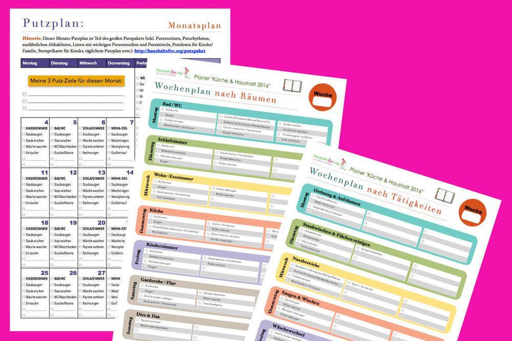 checklisten jetzt im shop entdecken und downloaden putzplan checkliste und hausarbeit. Black Bedroom Furniture Sets. Home Design Ideas