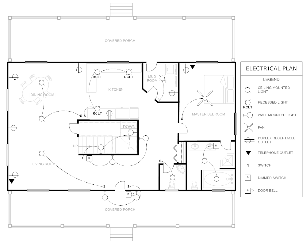 Example Image: Electrical Plan | Stuff to Buy | Pinterest ...