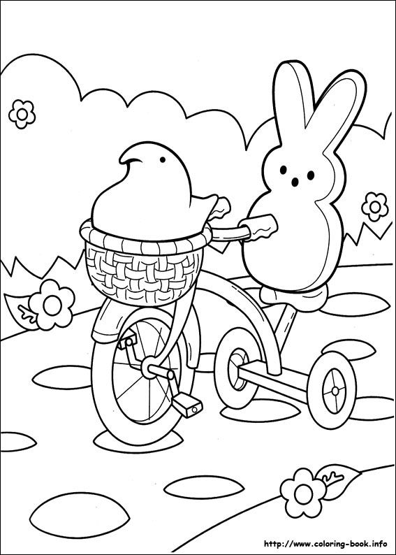 Free Printable Marshmallow Peeps Coloring Pages For Kids Color This Online Pictures And Sheets A Book Of
